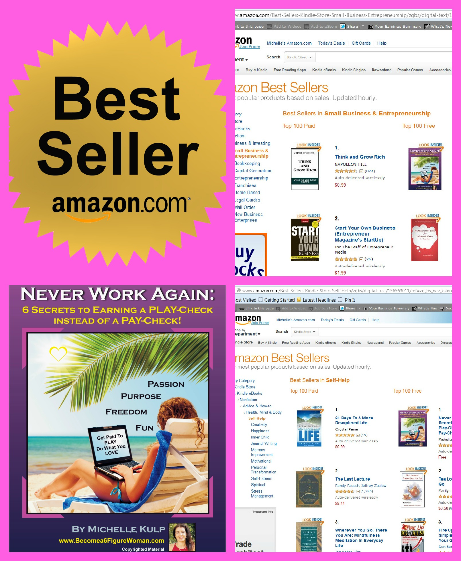My ebook became 1 on Amazon's Best Seller list under the category